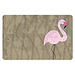 The Softer Side by Weather Guard™ 18-Inch x 27-Inch Tan Flamingo Kitchen Mat