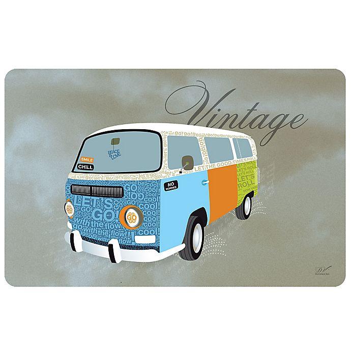 Alternate image 1 for Weather Guard™ 18-Inch x 27-Inch Vintage Hippie Van Kitchen Mat