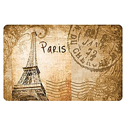 The Softer Side by Weather Guard™ Eiffel Tower Parchment Kitchen Mat