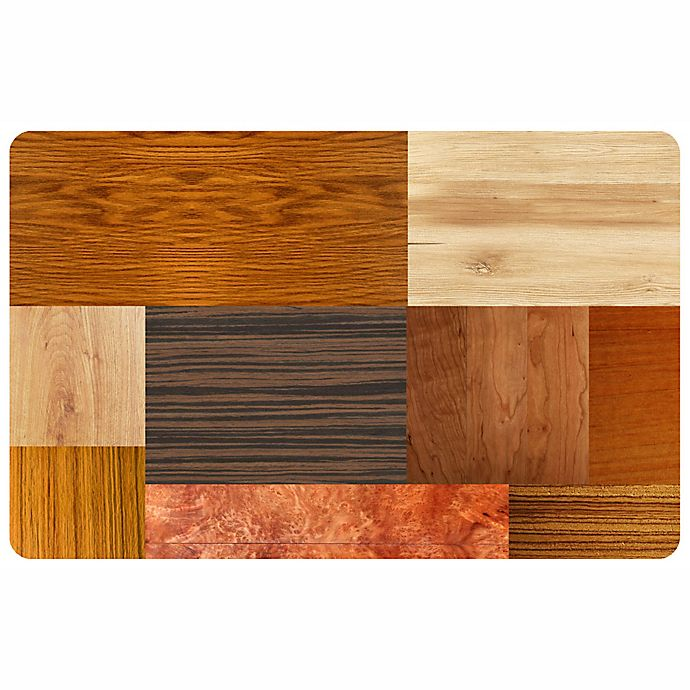 Alternate image 1 for The Softer Side by Weather Guard™ 23-Inch x 36-Inch Exotic Woods Kitchen Mat