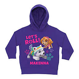 "Nick Jr.™ PAW Patrol ""Let's Roll!"" Name Hoodie in Purple"