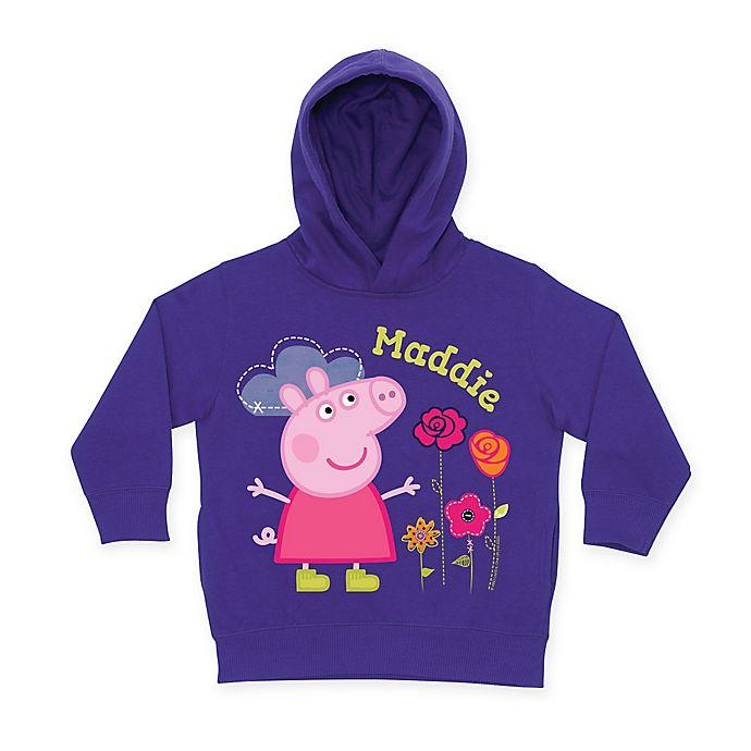 Alternate image 1 for Peppa Pig Pretty Toddler Hoodie in Purple