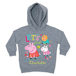 "Peppa Pig ""Let's Play"" Toddler Hoodie in Grey"