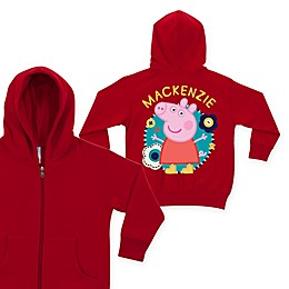 Peppa Pig Flower Fun Zip-Up Hoodie in Red