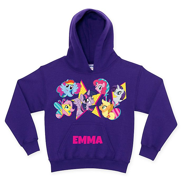 Alternate image 1 for My Little Pony Cutie Marks Pullover Hoodie in Purple (Personalized)