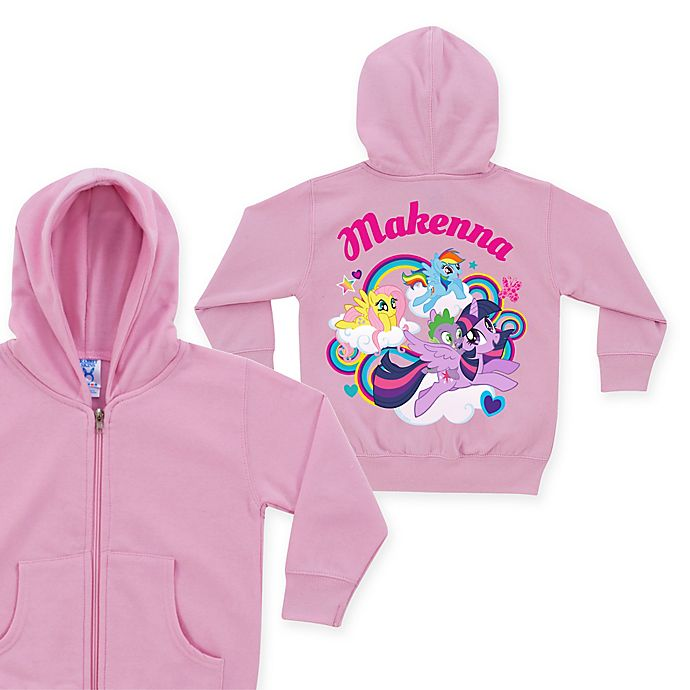 Alternate image 1 for My Little Pony Born To Soar Size Zip-Up Hoodie in Pink (Personalized)