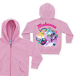 My Little Pony Born To Soar Size 4T Zip-Up Hoodie in Pink (Personalized)