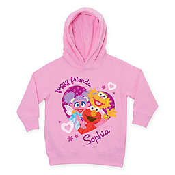 "Sesame Street ""Fuzzy Friends"" Pull-Over Hoodie in Pink"
