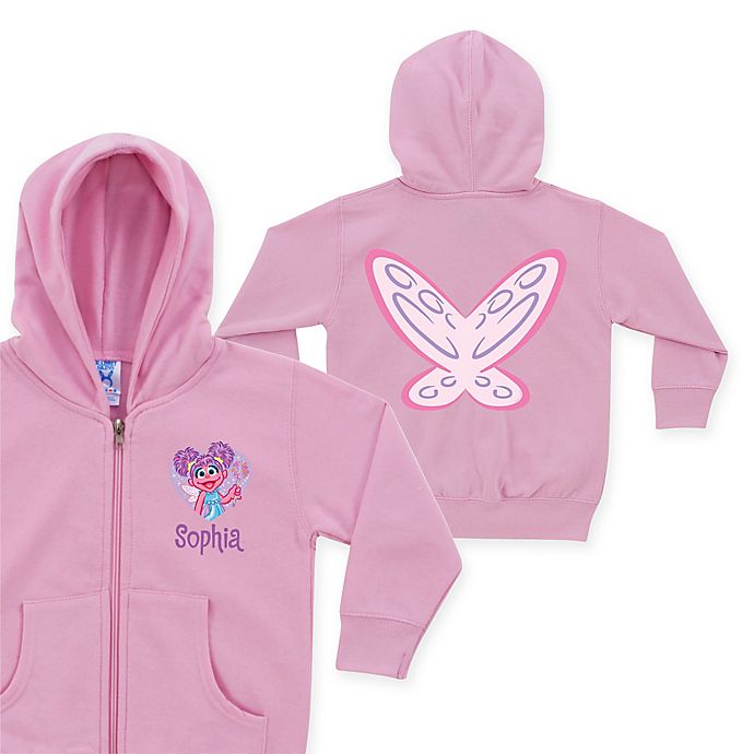 Alternate image 1 for Sesame Street Abby Cadabby Winged Pink Zip-Up Hoodie in Pink