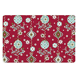 The Softer Side by Weather Guard™ Holiday Ornaments Kitchen Mat