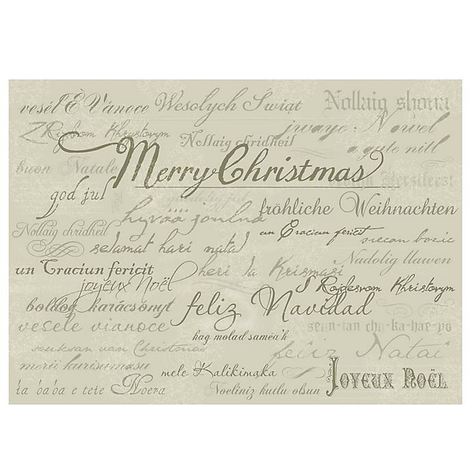 Alternate image 1 for The Softer Side by Weather Guard™ Holiday Script Kitchen Mat