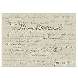 The Softer Side by Weather Guard™ Holiday Script Kitchen Mat