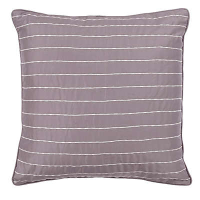 Bed Inc. Antoinette Jacquard Square Throw Pillow in Taupe