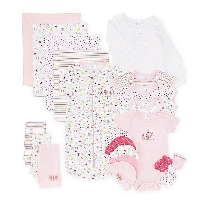 ae5275ec4c51e Spasilk® Size 0-6M 23-Piece Baby Layette Gift Set in Pink   Bed Bath ...