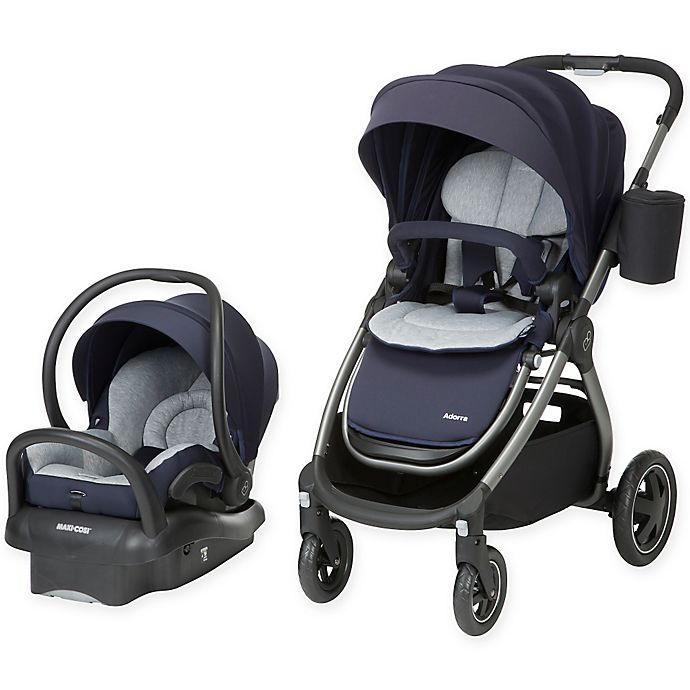 Alternate image 1 for Maxi-Cosi® Adorra Travel System Charcoal Frame in Brilliant Blue