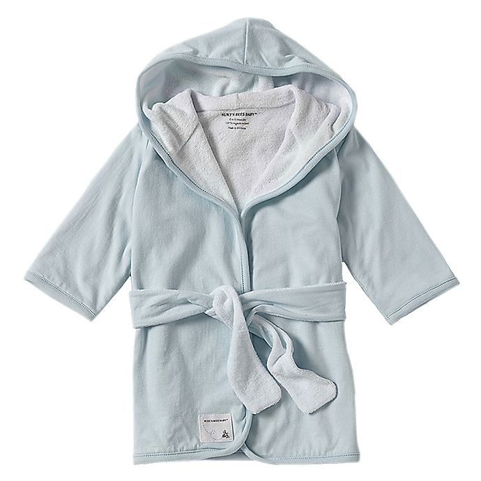 Alternate image 1 for Burt's Bees Baby® Organic Cotton Knit Terry Robe in Sky