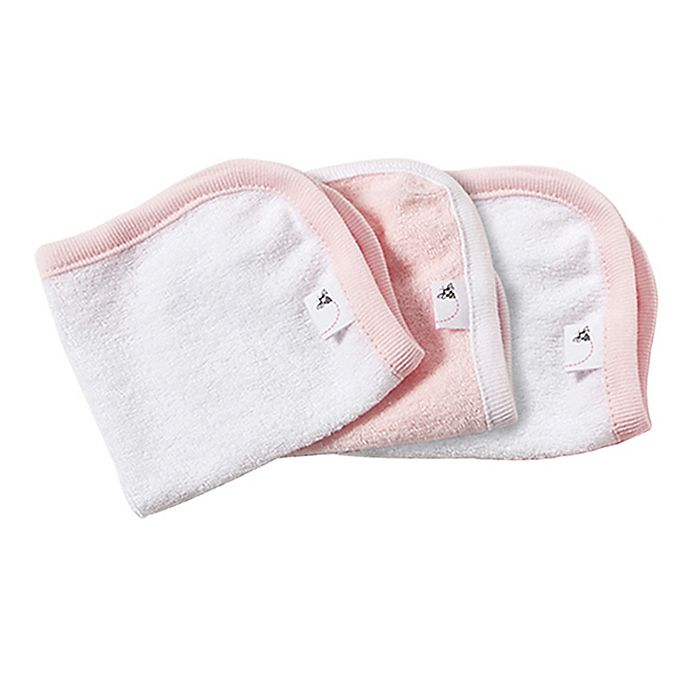 Alternate image 1 for Burt's Bees Baby® 3-Pack Organic Cotton Washcloths in Blossom