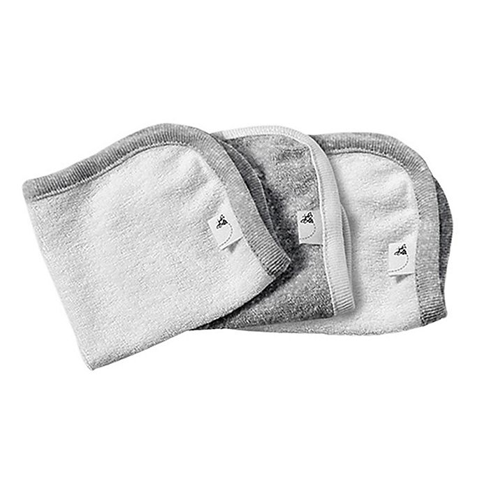 Alternate image 1 for Burt's Bees Baby® 3-Pack Organic Cotton Washcloths in Grey