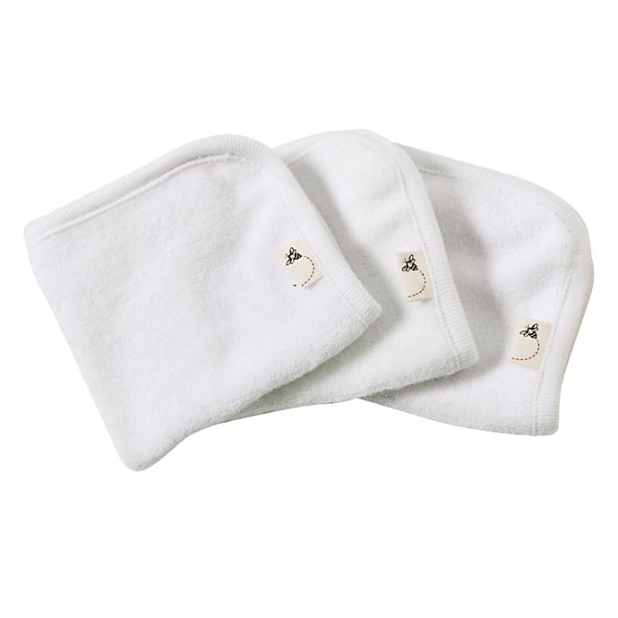 Alternate image 1 for Burt's Bees Baby® 3-Pack Organic Cotton Washcloths in Cloud