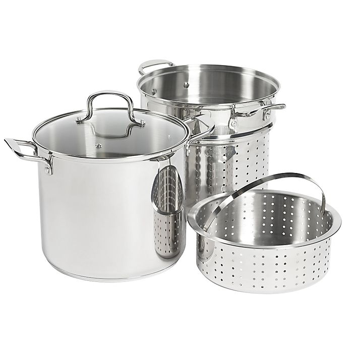 Alternate image 1 for SALT™ 12 qt. Stainless Steel 4-Piece Multi-Cooker