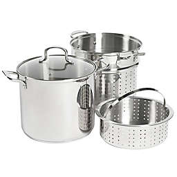SALT™ 12 qt. Stainless Steel 4-Piece Multi-Cooker