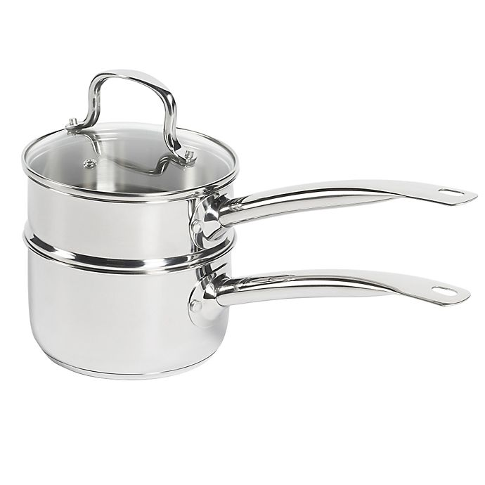 Alternate image 1 for SALT® 2-Piece 2 qt. Stainless Steel Double Boiler