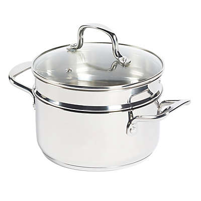 SALT® 3-Piece 3 qt. Stainless Steel Covered Soup Pot