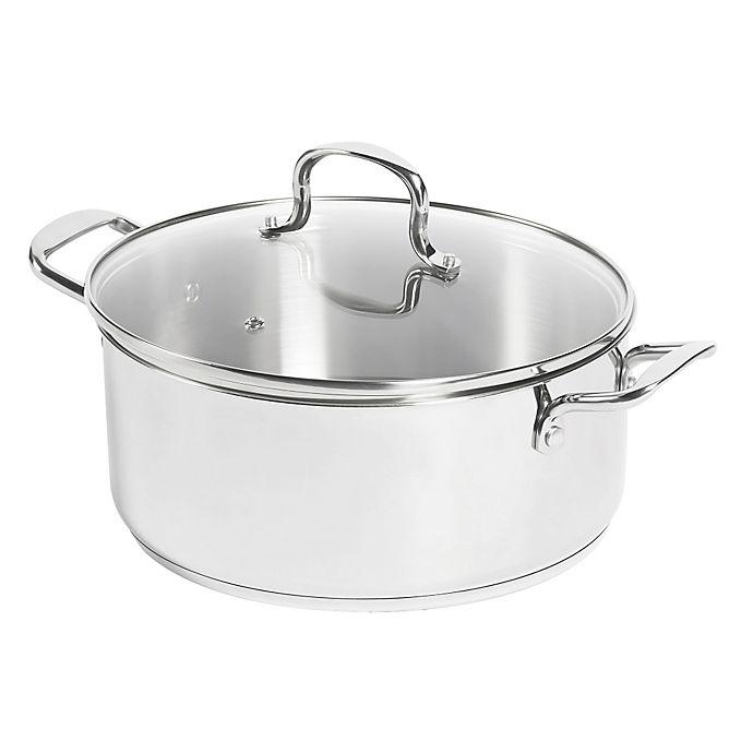 Alternate image 1 for SALT® 7.5 qt. Stainless Steel Dutch Oven