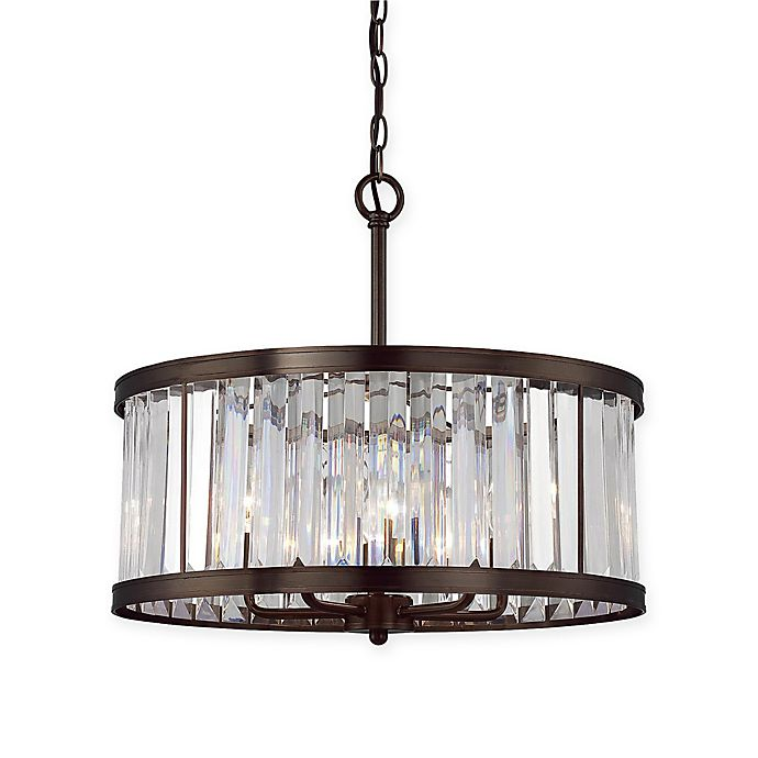 Savoy House Tierney 5 Light Pendant In Burnished Bronze