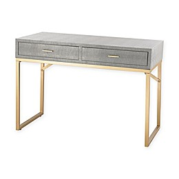 Beaufort Point Desk in Gold/Grey