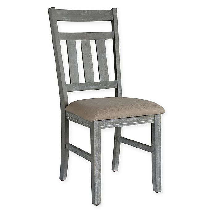 Powell Turino 18 Inch Dining Side Chair In Grey Oak Bed Bath Beyond