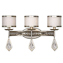 Uttermost Tamworth 3-Light Wall-Mount Vanity Strip in Silver Champagne with Silken Shade