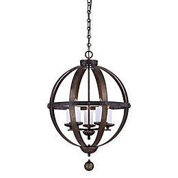 Savoy House Alsace Ceiling Mount Chandelier in Wood