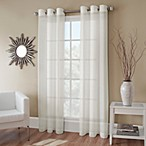 Crushed Voile 72-Inch Grommet Top Sheer Window Curtain Panel in Ivory