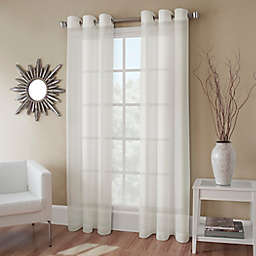 Crushed Voile 84-Inch Grommet Top Sheer Window Curtain Panel in Ivory