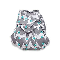 Bumkins One Size Snap-In-One Cloth Diaper in Grey Chevron