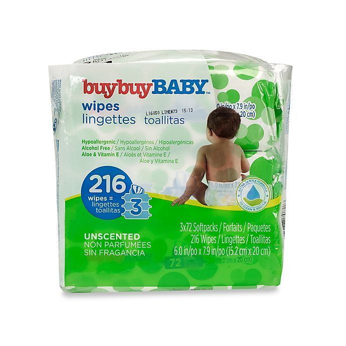Alternate image 1 for buybuy BABY™ 3-Pack 72-Count Unscented Wipes