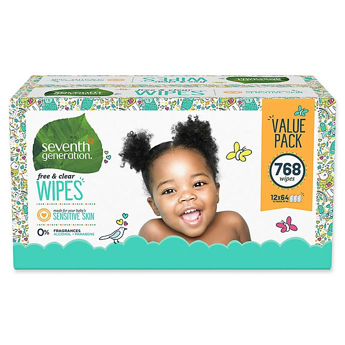 Alternate image 1 for Seventh Generation™ Free and Clear 768-Count Baby Wipes