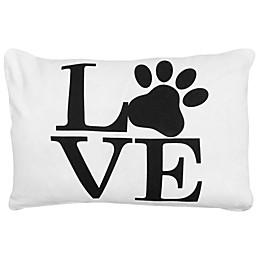 Park B. Smith® Vintage House Love Pet Oblong Throw Pillow in White/Black