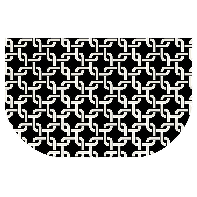 Alternate image 1 for The Softer Side by Weather Guard™ 24-Inch x 40-Inch Interlink Kitchen Mat in Black