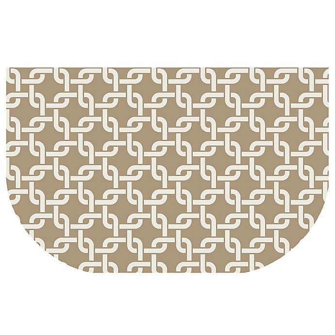 Alternate image 1 for The Softer Side by Weather Guard™ 24-Inch x 40-Inch Interlink Kitchen Mat in Natural