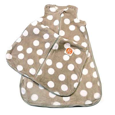 Gunamuna Gunapod® Plush Fleece Wearable Blanket with WonderZip® in Grey Dots