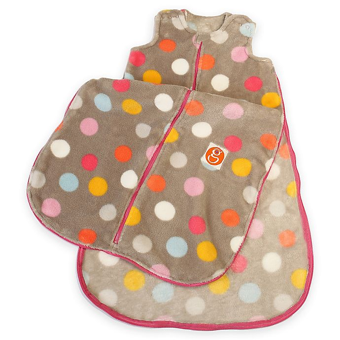Alternate image 1 for Gunamuna Gunapod® Small Plush Fleece Multicolor Dots Wearable Blanket with WonderZip®