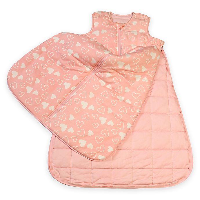 Alternate image 1 for Gunamuna Gunapod® Luxury Duvet with WonderZip® in Pink Hearts