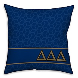Delta Delta Delta Greek Sorority 16-Inch Throw Pillow in Blue
