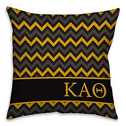 Kappa Alpha Theta Greek Sorority 16-Inch Throw Pillow in Black