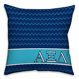 Alpha Xi Delta Greek Sorority 16-Inch Throw Pillow in Blue