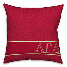 Alpha Gamma Delta Greek Sorority 16-Inch Throw Pillow in Pink