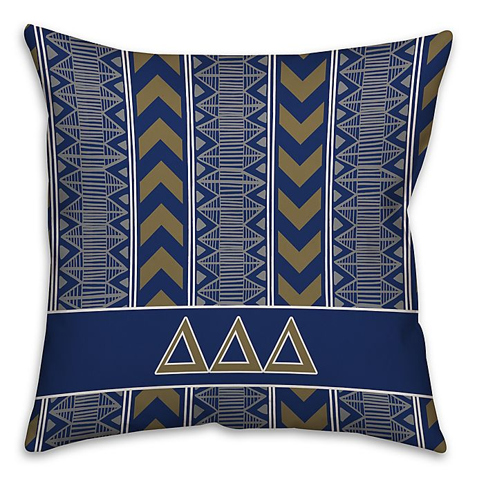 Alternate image 1 for Delta Delta Delta Greek Sorority 16-Inch Throw Pillow in Blue