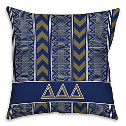 Delta Delta Delta Greek Sorority 16-Inch Throw Pillow in Blue